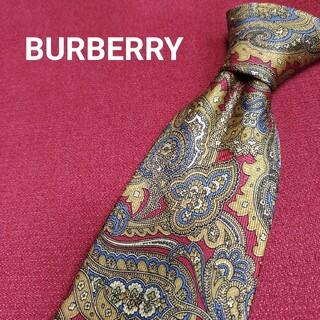 バーバリー(BURBERRY)の【美品】 BURBERRY バーバリー シルク ネクタイ ペイズリー f36(ネクタイ)