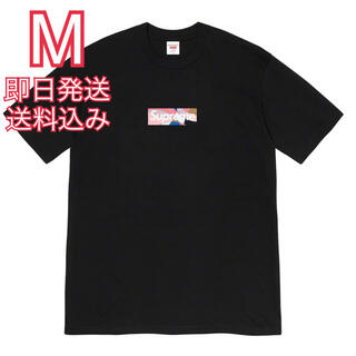 Supreme - M supreme Emilio Pucci Box Logo Tee 黒ピンク