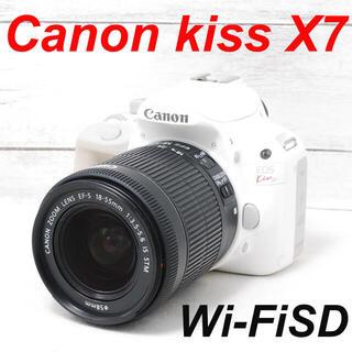 キヤノン(Canon)の❤️希少ホワイト❤️スマホ転送❤️Canon kiss X7(デジタル一眼)