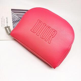 Christian Dior - ディオール レザー調 ピンクロゴ ポーチ ノベルティ
