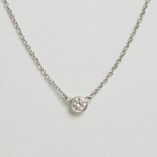 Tiffany & Co. - ティファニー バイザヤード ダイヤモンド ネックレス ペンダント プラチナ 美品