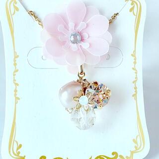 スワロフスキー(SWAROVSKI)の【天然石】8mm水晶 宝石箱のようなネックレス  (ネックレス)