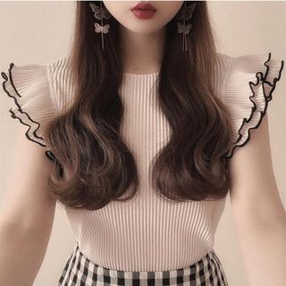 GRL - GRL フリルブラウス ブラック 黒 トップス 新作 人気 韓国ファッション 春