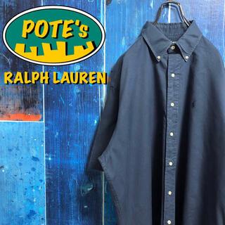 Ralph Lauren - 【ラルフローレン】ワンポイント刺繍ロゴ半袖チノボタンダウンシャツ 90s