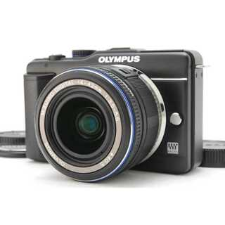 オリンパス(OLYMPUS)の★ おしゃれなミラーレス一眼 OLYMPUS E-PL1s ブラック ★(ミラーレス一眼)