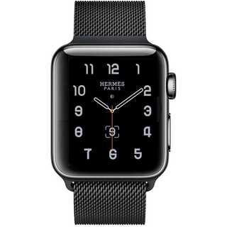 【B31】Apple Watch ミラネーゼループ38mm/40mm(ブラック)(その他)