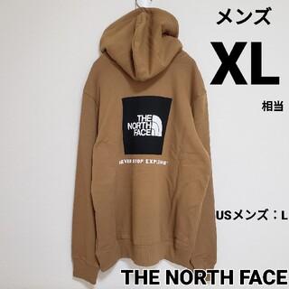 THE NORTH FACE - ノースフェイス ボックスロゴ パーカー フーディ US ブラウン