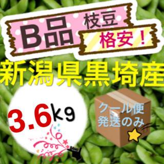 枝豆 格安【B品3.6kg】新潟県黒埼産 えだまめ(野菜)