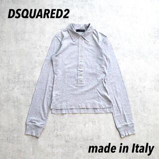 ディースクエアード(DSQUARED2)のDSQUARED2 ディースクエアード イタリア製 ロングポロ バックデザイン(シャツ/ブラウス(長袖/七分))