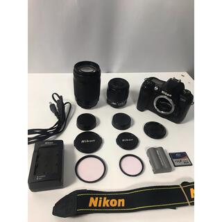 ニコン(Nikon)の美品 Nikon D100 ダブルレンズ デジタル一眼レフ すぐに撮影出来ます。(デジタル一眼)