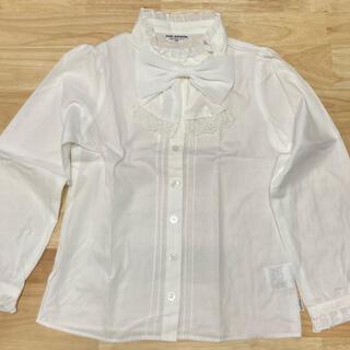 ポンポネット(pom ponette)のpom ponetto   長袖ドレスシャツ 白 130(ブラウス)