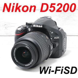 ニコン(Nikon)の❤️一眼デビューに❤️スマホ転送❤️Nikon D5200(デジタル一眼)