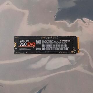 サムスン(SAMSUNG)のSamsung SSD 250GB 960EVO M.2 Type2280(PCパーツ)