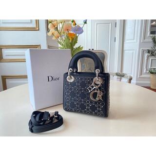 """クリスチャンディオール(Christian Dior)のDior★サテン """"LADY DIOR"""" ミニバッグ(ショルダーバッグ)"""