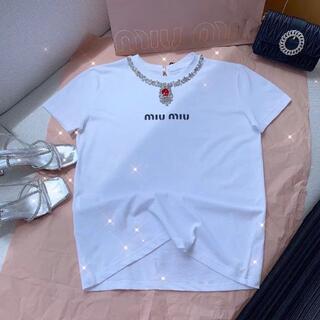 miumiu - miumiu ミュウミュウ半袖Tシャツ SML選択可能