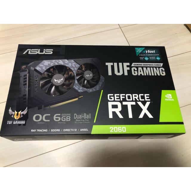 ASUS(エイスース)のGeForce RTX2060 tuf gaming 美品 スマホ/家電/カメラのPC/タブレット(PCパーツ)の商品写真