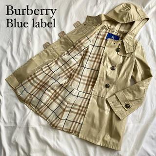 BURBERRY BLUE LABEL - ☆美品 バーバリーブルーレーベル レインコート チェック Mサイズ ベージュ