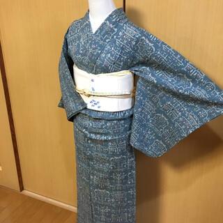 塩沢紬 単衣 絣着物(着物)