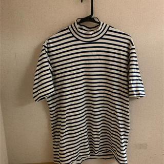 ヤエカ(YAECA)のアナトミカ モックネックボーダー Tシャツ(Tシャツ(半袖/袖なし))