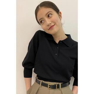 ユニクロ(UNIQLO)のUNIQLO Uニットポロシャツ今田美桜着用(ニット/セーター)