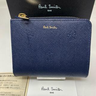 Paul Smith - 未使用☺︎Paul Smith 二つ折り財布 ポールドローイング2 ネイビー