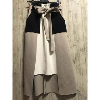 SCOT CLUB - 新品未使用 ラディエイト 今期春夏 ボンディング配色スカート