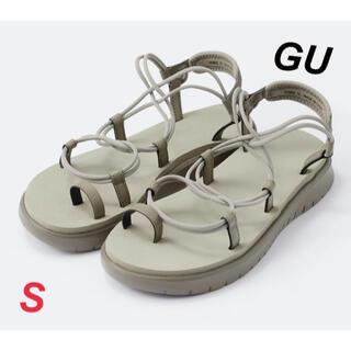 GU - 新品 ジーユー レディース ソフトアーチエアリースポーツサンダル S