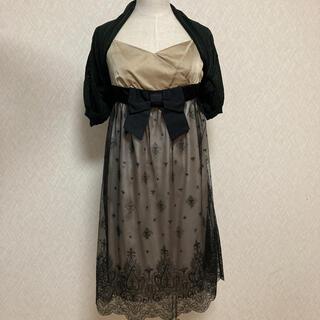 エフデ(ef-de)の定価3万円 エフデ フォーマルボレロ&キャミソールドレス(ミディアムドレス)