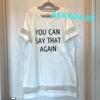 アズノウアズ(AS KNOW AS)の【AS KNOW AS】Tシャツワンピ Tシャツ ワンピース(Tシャツ(半袖/袖なし))