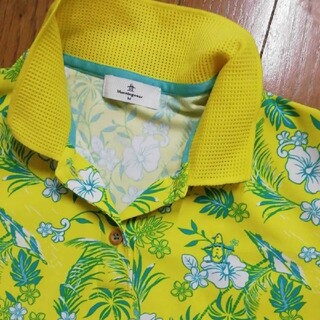 Munsingwear - マンシングウェア アロハ ポロシャツ黄色