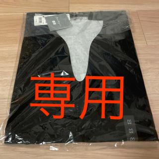UNIQLO - エアリズムコットンオーバーサイズT(5分袖)black 黒 Mサイズ