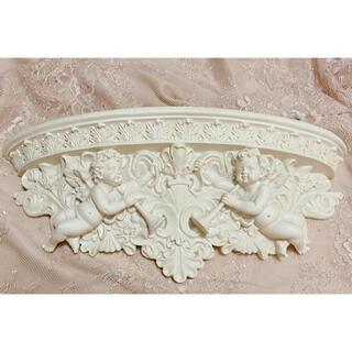 フランフラン(Francfranc)のエンジェル コンソール 壁 壁掛け 台 ラック 棚 天使 ロココ ロココ調 白(置物)