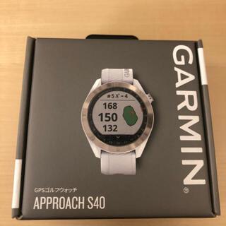 ガーミン(GARMIN)のホワイト:GARMIN(ガーミン) ゴルフナビ GPS Approach S40(ゴルフ)