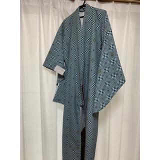 チャイハネ(チャイハネ)の大正ロマン 洗えるプレタ着物 市松模様 緑×白 レトロ風(着物)