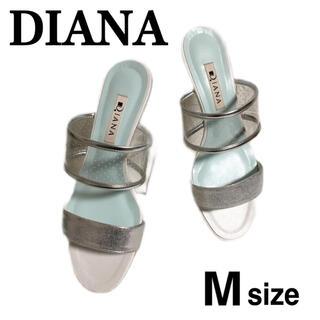 DIANA - 美品 DIANA クリア サンダル シルバー M ダイアナ 箱付き フラット