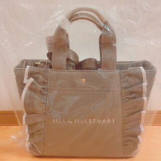 JILL by JILLSTUART - ジルスチュアート フリルトートバッグ 大 モカグレー