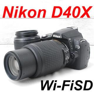 ニコン(Nikon)の❤️ダブルレンズセット❤️スマホ転送❤️Nikon D40X(デジタル一眼)