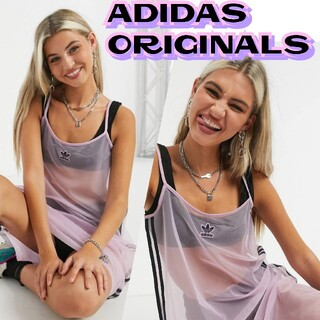 adidas - Adidas originals シースルー メッシュワンピース キャミワンピ