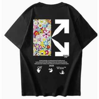花柄 メンズ レディース Tシャツ オーバーサイズ ペアルック オフホワイト