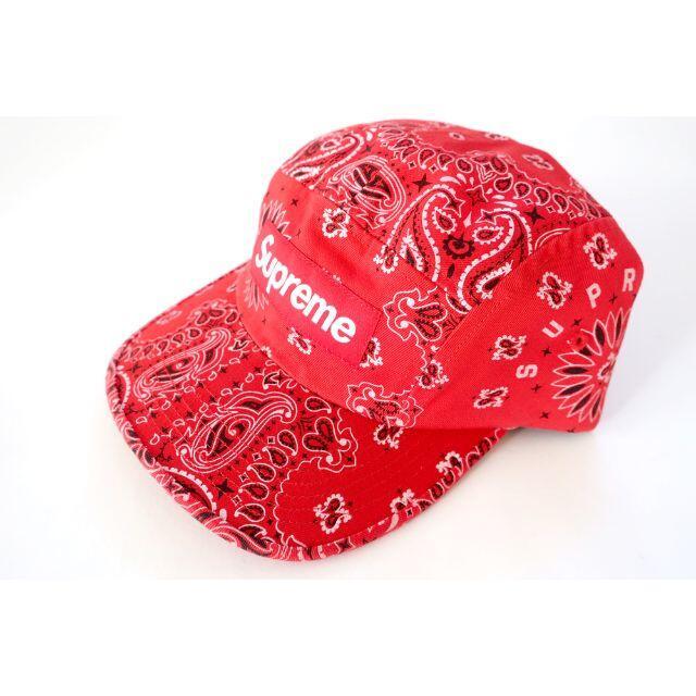 Supreme(シュプリーム)のSupreme Bandana Camp Capシュプリームバンダナキャップ赤 メンズの帽子(キャップ)の商品写真