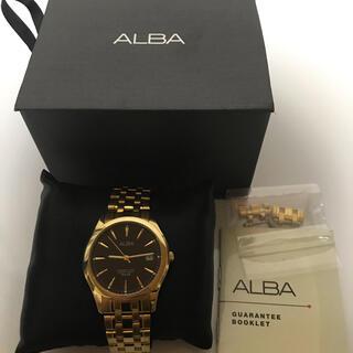 アルバ(ALBA)の箱付き ALBA VX42-X338 腕時計 SEIKO ゴールド 新品電池交換(腕時計(アナログ))
