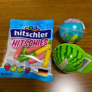 地球グミ・スイカグミ各1個 ヒッチーズ10g1袋(菓子/デザート)