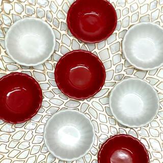 紅白♡菊小鉢 4点セット(食器)