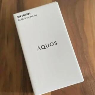 シャープ(SHARP)のAQUOS sense4 lite SIMフリー ブラック 新品未開封(スマートフォン本体)