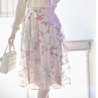 tocco - 今期新品4,290円タグ付き tocco フラワーオーガンジースカート
