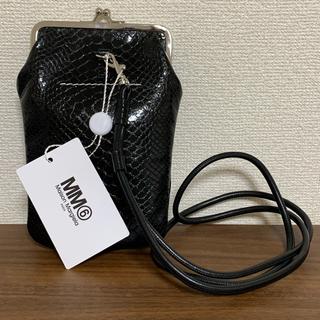 エムエムシックス(MM6)の新品 メゾンマルジェラ MM6 Maison Margiela ブラック ポーチ(ポーチ)