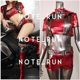 【tmrs】ロゴなし コスチューム RQ レースクイーン 衣装 赤・銀(衣装一式)