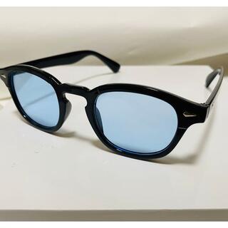 新品ブルーレンズ ボストン型 サングラス 伊達メガネ メンズ レディース