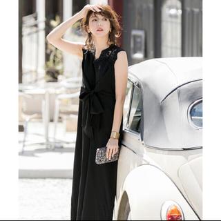 ガール(GIRL)のGIRL 美香さん着用☆パンツドレス(ブラック)(ロングドレス)