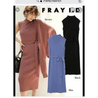 FRAY I.D - FRAYID ニットワンピ ブルー